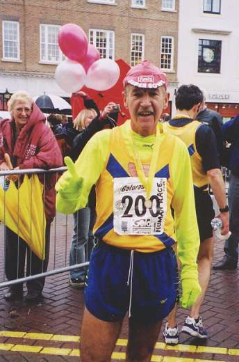 Rob Wilson after completing his 200th marathon